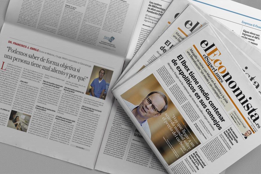 El Dr. Enrile habla en 'El Economista' sobre el tema tabú del mal aliento