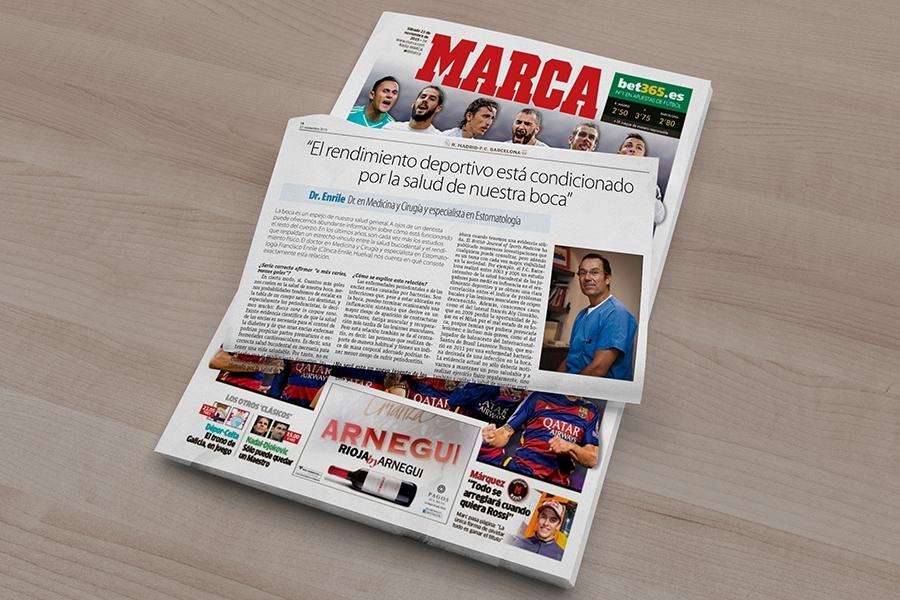 El diario Marca entrevista al Dr. Enrile para hablar de deporte y salud bucodental