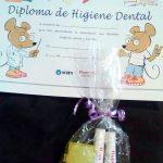 Diploma de curso de higiene dental para niños