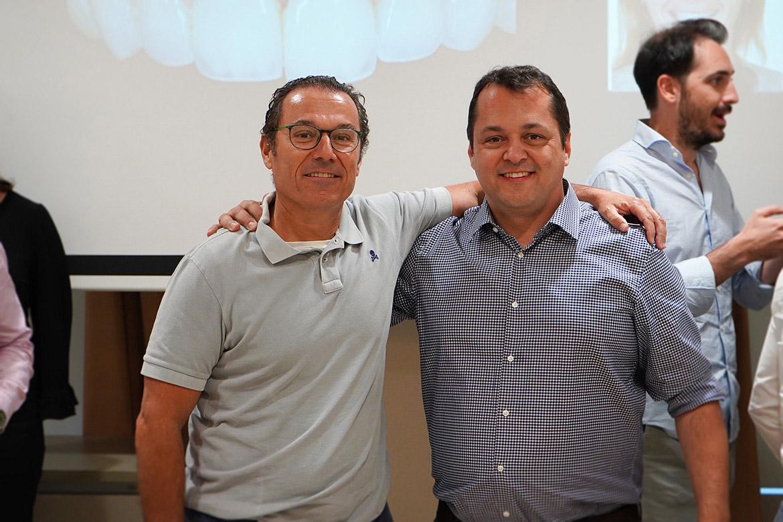 Los doctores Paulo Mesquita y Francisco Enrile en la Jornada Boqua