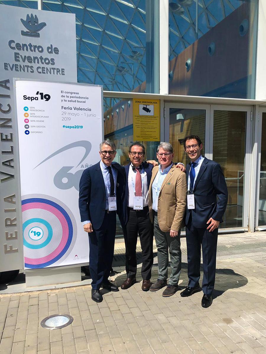 De izquierda a derecha, los doctores Buitrago, Enrile, Arregui y Sanz, a las puertas de SEPA Valencia '19.