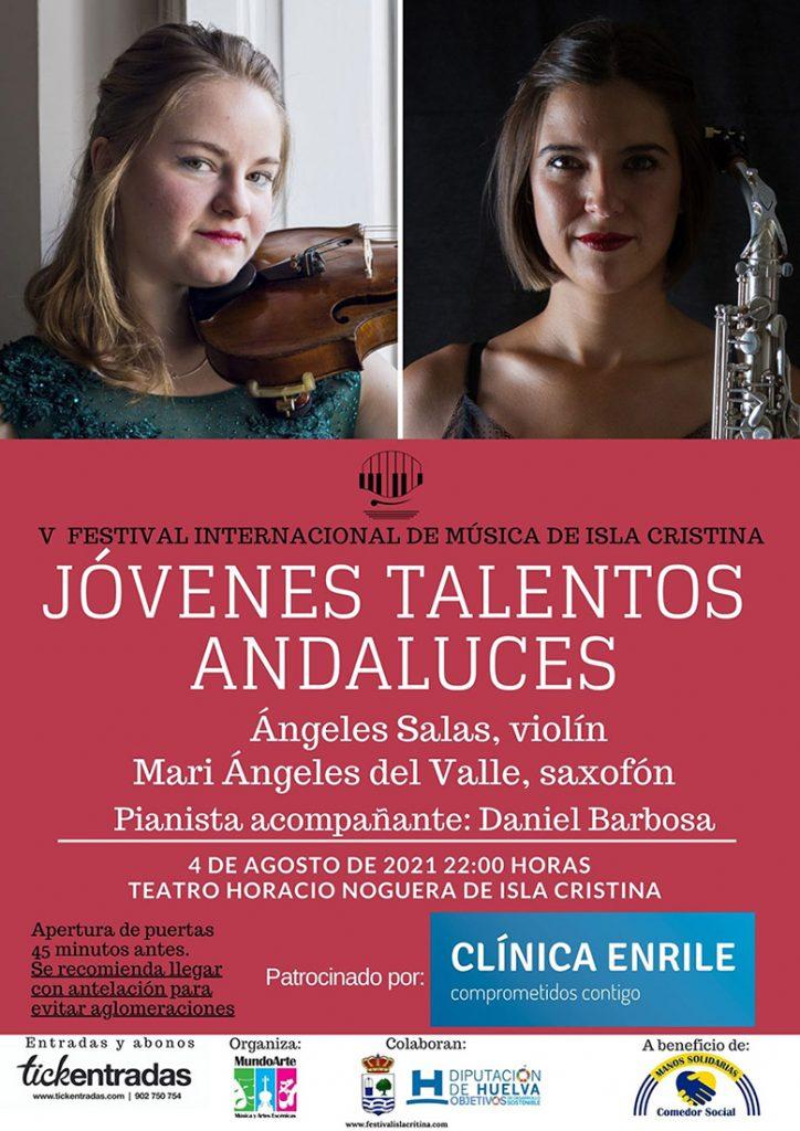 """Cartel del concierto """"Jóvenes Talentos Andaluces"""""""